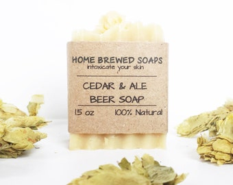 Beer Soap - Cedar & Ale - Gifts for Him - Cedar Soap - Beer Soap - Natural Soap - Gifts for Beer Lovers - Soap with Beer