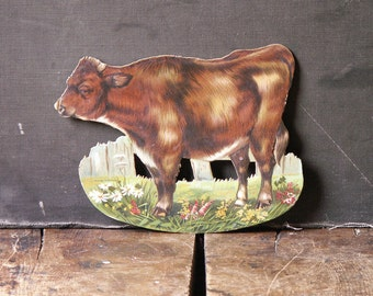 Vintage Rochester Baking Company Cow Cutout Advertisting for Butter Krust Bread