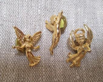 Vintage Angel Tie Tacks - Lapel Pins