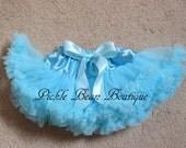 Light Blue Pettiskirt, 0-12 mo, Baby Girls Tutu, Baby Newborn Infant Petti Skirt