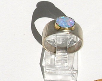 Opal Ring  Size 5 1/2  14k Gold and Sterling