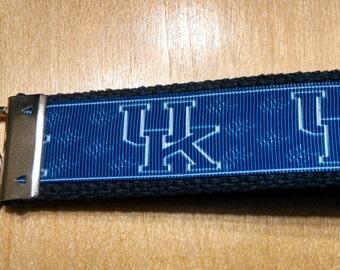 University Of Kentucky Inspired Key Fob/Wristlet on Blue