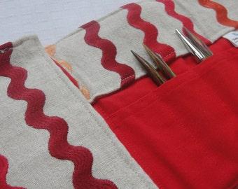 Linen Ombre Interchangeable Knitting Needle Case