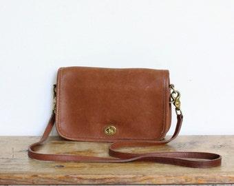 Vintage Coach Bag // Coach Crossbody Bag // Coach Pocket Purse British Tan 9755