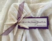 Starfish Escort Card - Beach Wedding or Event - Rustic Shabby Chic Starfish Place Card Favor