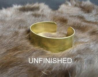 "3/4"" X 6 (.75 x 6) 20 gauge Brass Cuff bracelet blank unfinished"