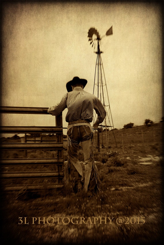 Cowboy Fine Art Photography Print Texas Western Rustic Home Decor