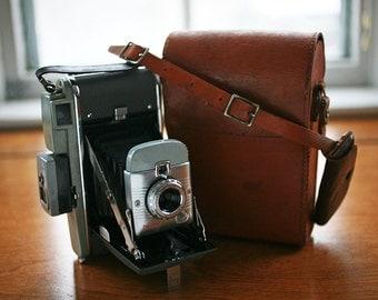 Vintage Polaroid Land 80 Camera  With Filter Set, Light Meter, AND Original Camera Bag - Excellent Condition