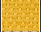 Mango minky dot - 1/2 Yard Blanket Cut