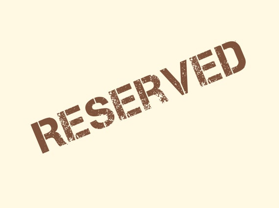 Reserved to Joelle