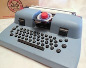 RESERVED/////////Vintage MARX Toy Typewriter in original Box Blue Plastic Dial Imprint Great Condition Collectible Gift