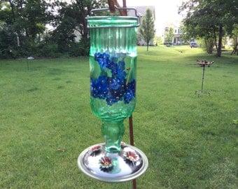 Glass  Humming Bird Feeder