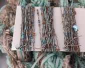 CUSTOM LISTING for Suzanne cotton and silk skeins hand dyed duck egg blue and brown.