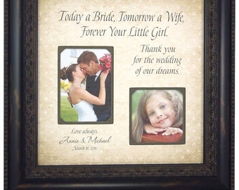 Personalized Wedding Gifts For Parents, MOM & DAD, Sign, Frame, Father of The Bride, Mother of The Bride, Reception, Shower, 16 X 16