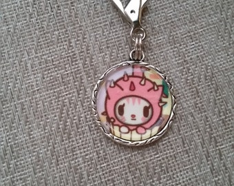 little e clip fob. Cactus cat. Tokidoki key fob. necklace charm