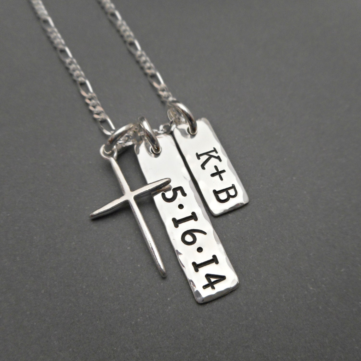 sted sterling silver mens necklace personalized