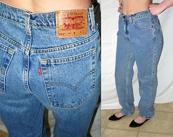 Jane's addiction .. vintage 80s high waist waisted jeans / 1980s Levis 512 long L / skinny slim ankle taper / waist 30 X 33 tall