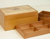 RESERVED for Izumi Jewelry box crafted of cedar with removable tray