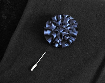 Montana Blue lapel pin, mens boutonniere, grooms boutonniere, groomsmen, wedding lapel pin, mens lapel pin, lapel flower pin, corsage