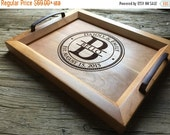 10% OFF THRU FEB Personalized Wood Tray - 12x15 - Wedding Gift, Housewarming Gift, Anniversary Gift
