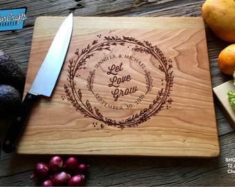Personalized Cutting Board Engraved Custom - Wood Cutting Board - Wedding Gift, Housewarming Gift, Anniversary Gift - Personalized