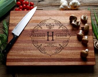Personalized Chopping Block, Engraved Chopping Block - Edge Grain 12x15 - Personalized Wedding Gift, Housewarming Gift, Anniversary Gift