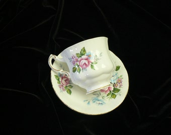 Paragon Flower Festival Bone China Cup and Saucer By Appointment Her Majesty The Queen