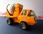 Vintage, Orange and White, 'Tonka'cement mixer!