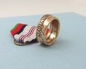 Afghanistan Campaign medal turned into a size 10 1/2 ring A unique gift for service in Afhganistan.Wear it on those special occasions