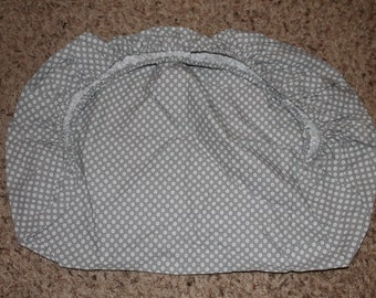Gray Circles Fitted Pack and Play Fitted Sheet