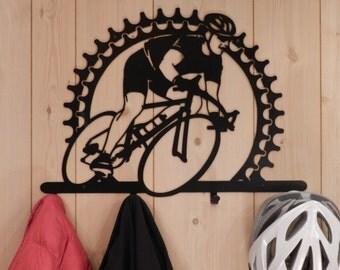 Bicycle Rider Coat Rack