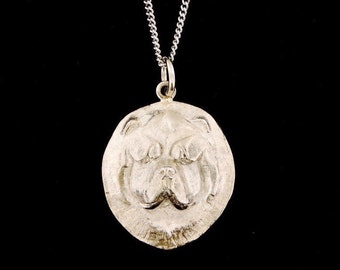 Sterling Silver Chow Chow Face Pendant