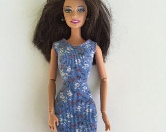 Short mini dress for Barbie; Barbie clothes