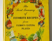 Vintage Cookbook - Favorite Recipes from Famous Eating Places - Ford Treasury - 1950s Cook Book - Restaurant and Diner Recipes