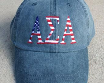 Alpha Sigma Alpha American Flag Cap