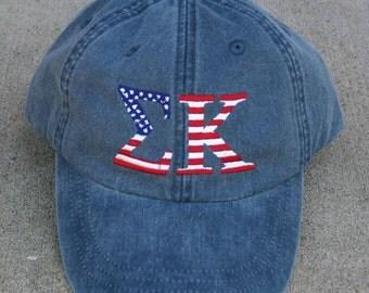 Sigma Kappa American Flag Cap