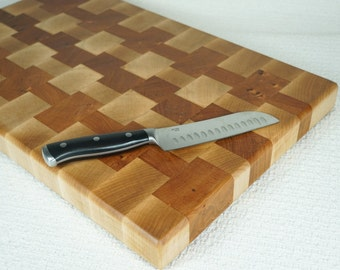 Wedding Gift Cutting Board - Butcher Block - End Grain Board - Chopping Block - End Grain Cutting Board - Wood Cutting Board - Cheese Board