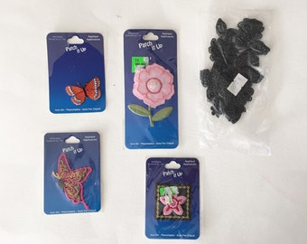 Assorted Floral Patches, New Patches, Crafting Supply, Sewing Supply