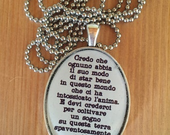 Marco Mengoni's (Italian Singer)  Necklace with Resin Pendants