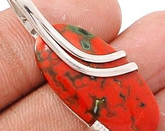 50% Off JUNE SALE Ocean Jasper Sterling Silver Pendant.