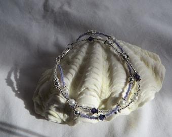 "7"" Purple Velvet Bracelet with Lobster Clasp"