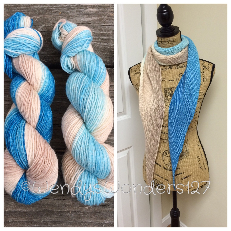 Knitting Patterns And Kits : Knit Pattern Kit DIY Knit Scarf Gradient Scarf Kit Knit