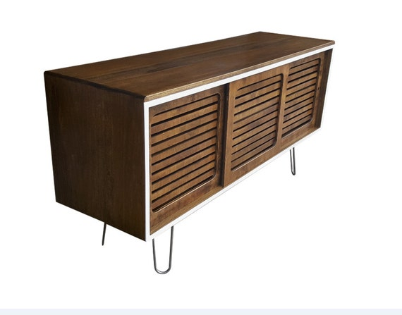 Mid Century Media Console Tv Stand 60 Vented