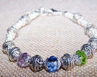 Mothers Day Birthstone Bracelet