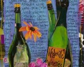 Wine Gifts, Washington Gifts, Northwest Gifts, WOODINVILLE WINERIES a Limited Edition, Mixed Media  print,by Seattle Artist Mary Klump