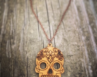 Mexican Sugar Skull Chain Necklace