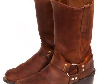 Brown MOTORCYCLE Boots Men's Size 7 .5 D