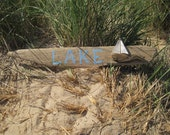 Driftwood Sailboat LAKE Driftwood Sign with Sailboat // Beach Decor // Nautical Decor // Driftwood Art // Driftwood Sailboat