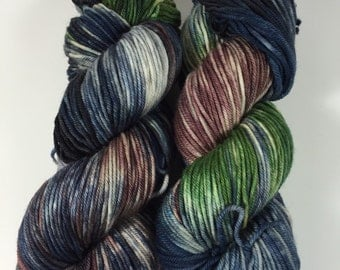Light Worsted, DK, Superwash Merino, 100 grams, Hand Dyed Yarn, The Eldest Winchester, double knitting,