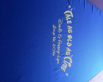 Royal Blue Custom Made Aisle Runner 25 Feet Long 36 inches with Custom Quote Names and Date